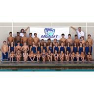 BLAST Sharks Swim Team logo